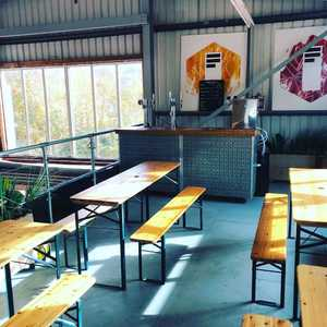 Would you bar-lieve it!? Our little bar is now upstairs on the mezzanine. This allows a more comfortable and warmer experience for drinkers to come down and have a pint whilst we continue brewing operations down below. Come and have look!. #taproom #brewerybar #highwycombe #nanobrewery #keepitlocal