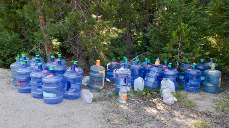 Water cache at Windigo Pass