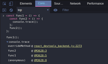 Console Trace Object