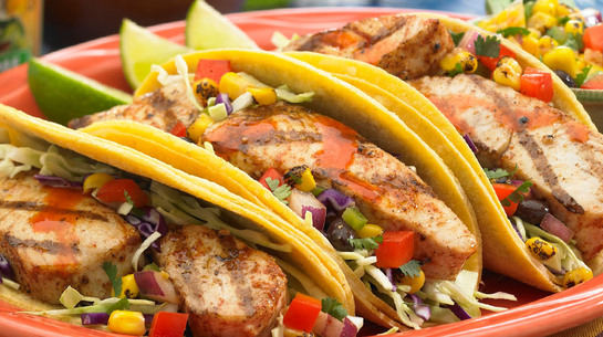 Mahi Mahi Tacos and Corn Salsa