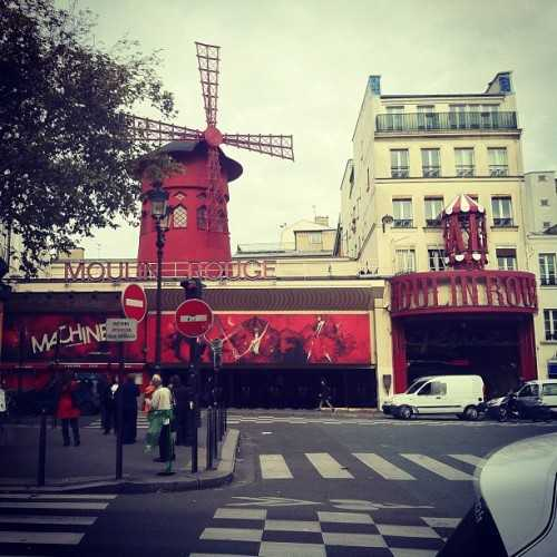 There's a whole street of sex shops next to Moulin Rouge