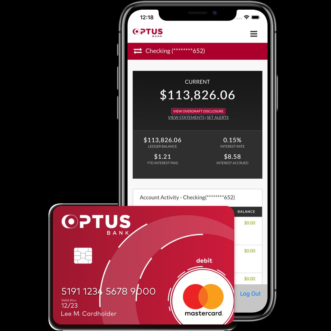 Optus Mobile app and debit card