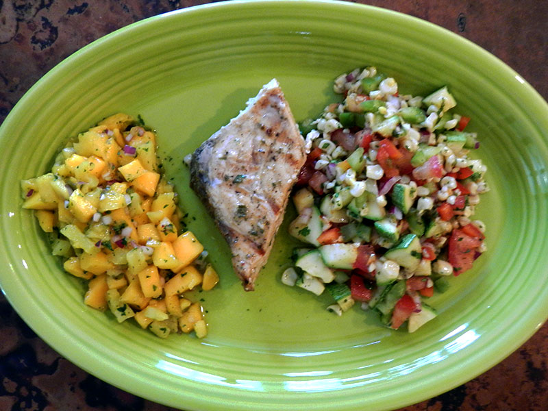 Grilled Sword Fish with Mango Salsa