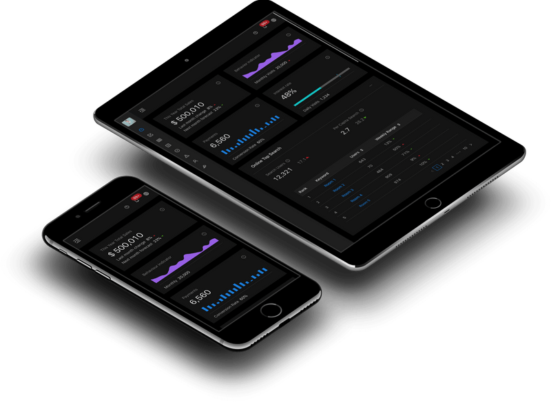 Interactive dashboard for company management