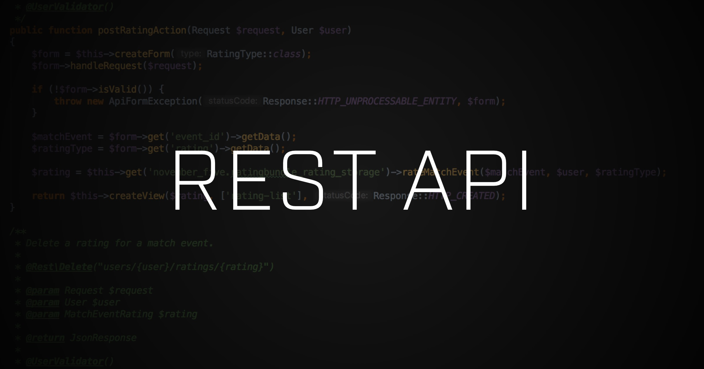 The name is API    REST API