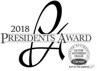 2018 Carrier Presidents Award Winner