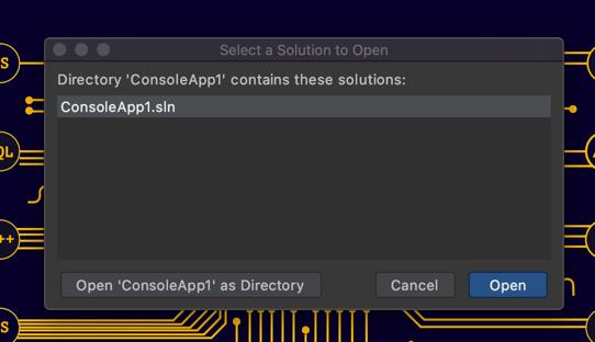 script open command