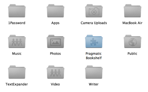 Pragmatic Bookshelf in Dropbox