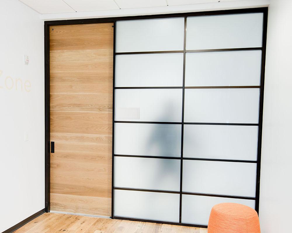 Office Room with Sliding Door