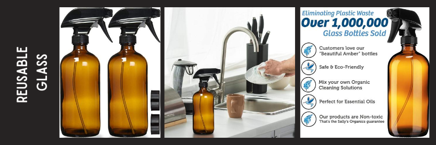 Reusable Amber Glass Bottles