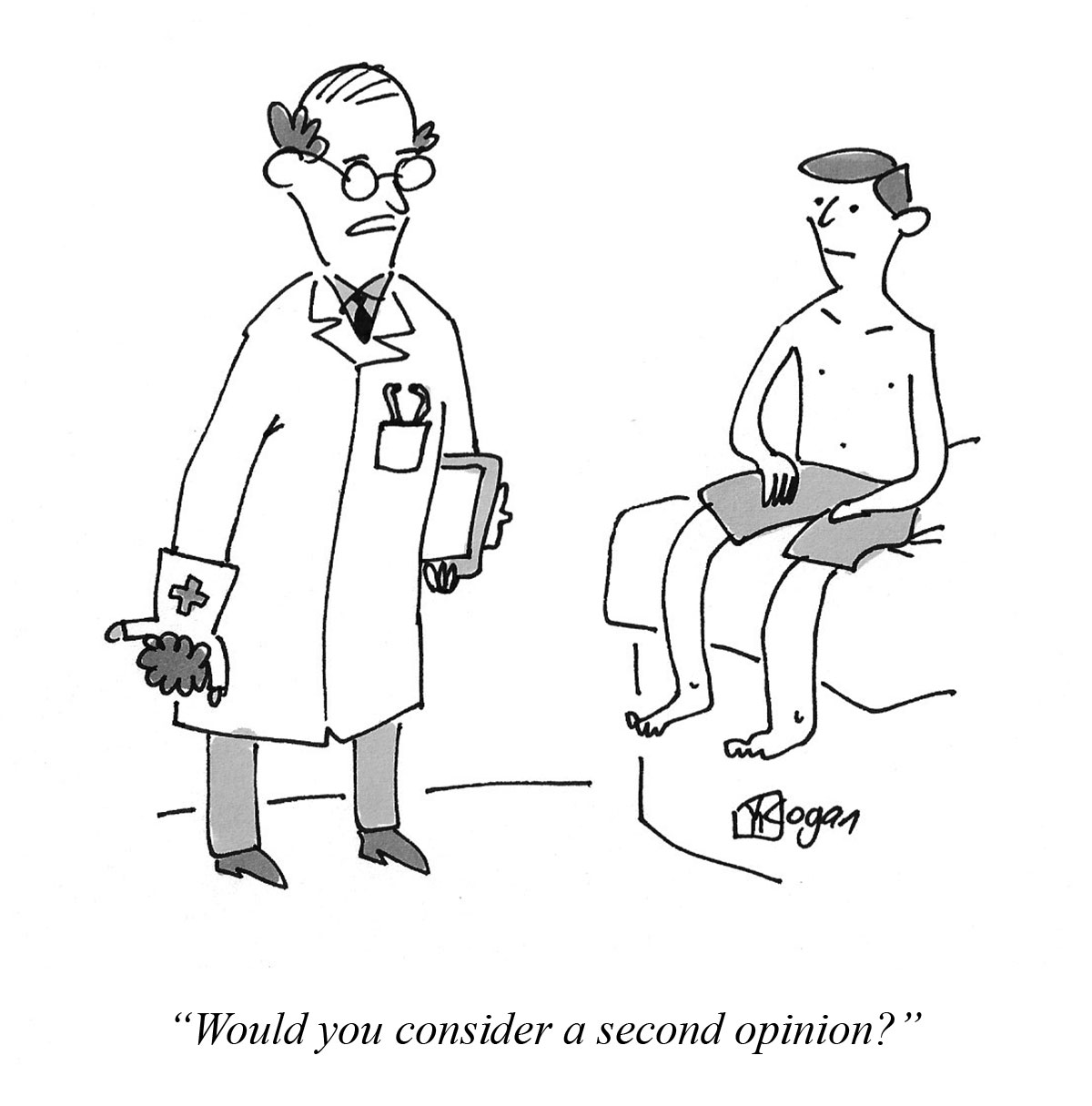 Cartoon about a second opinion.
