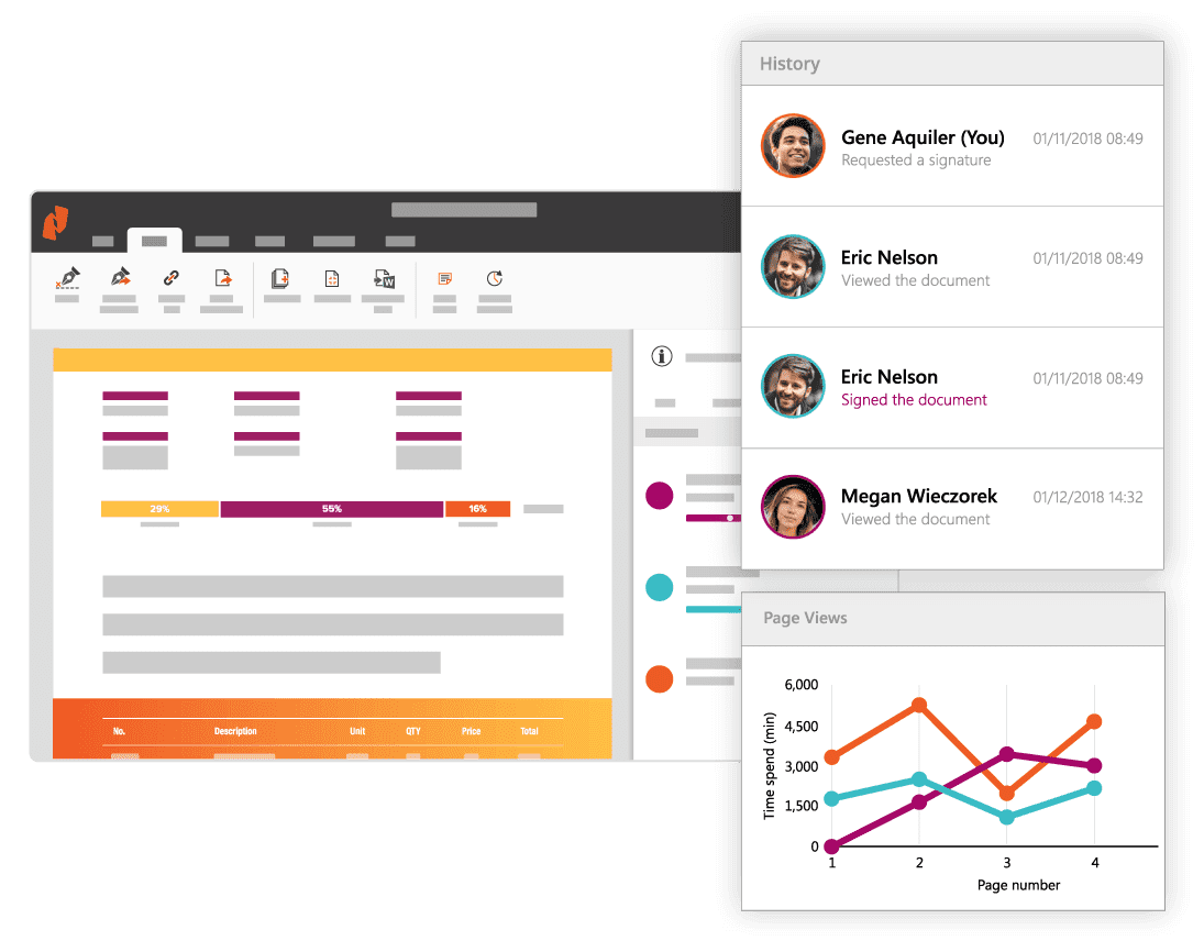 Keep track of all document activity