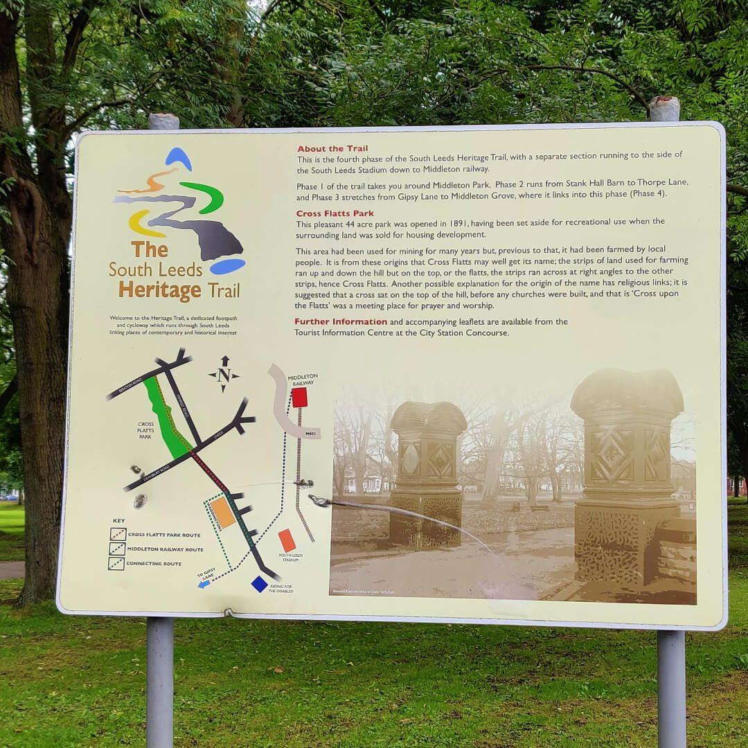 Cross Flatts Park heritage trail