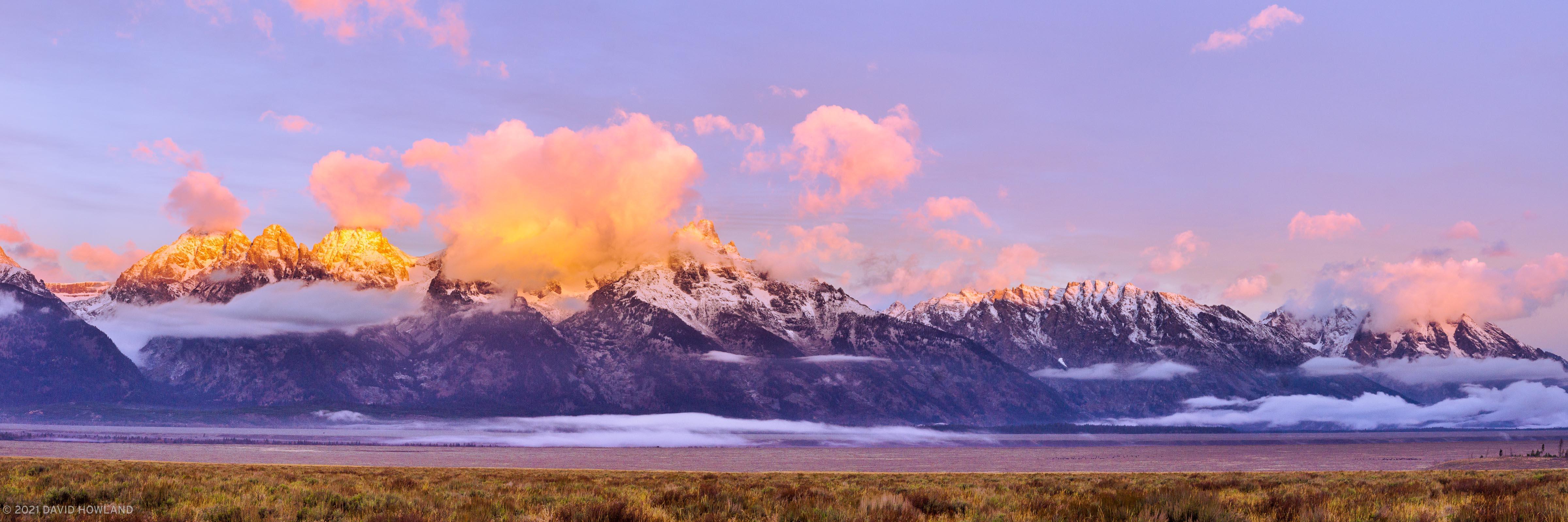 Sunrise Alpenglow on the Teton Range