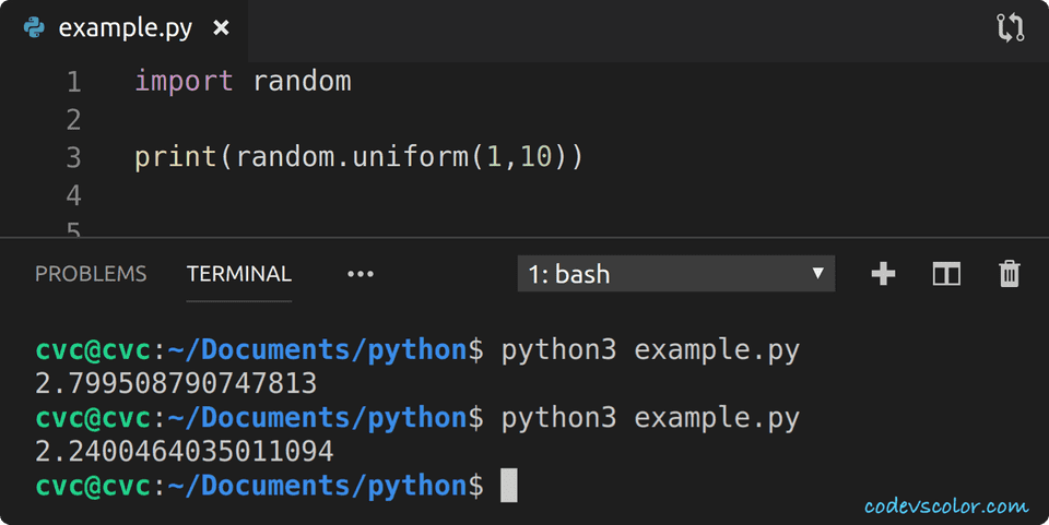 python random float in a range