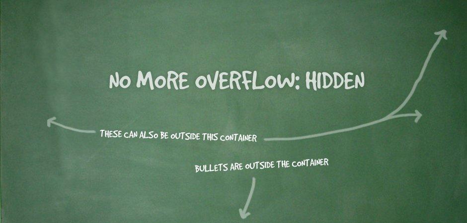 Overflow: Hidden No More