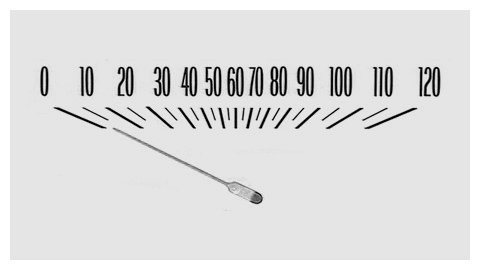 Image of a vintage speedometer