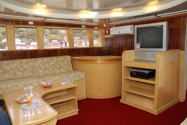Melaleuca Surf Charter Boat Mentawai Islands Lounge Area