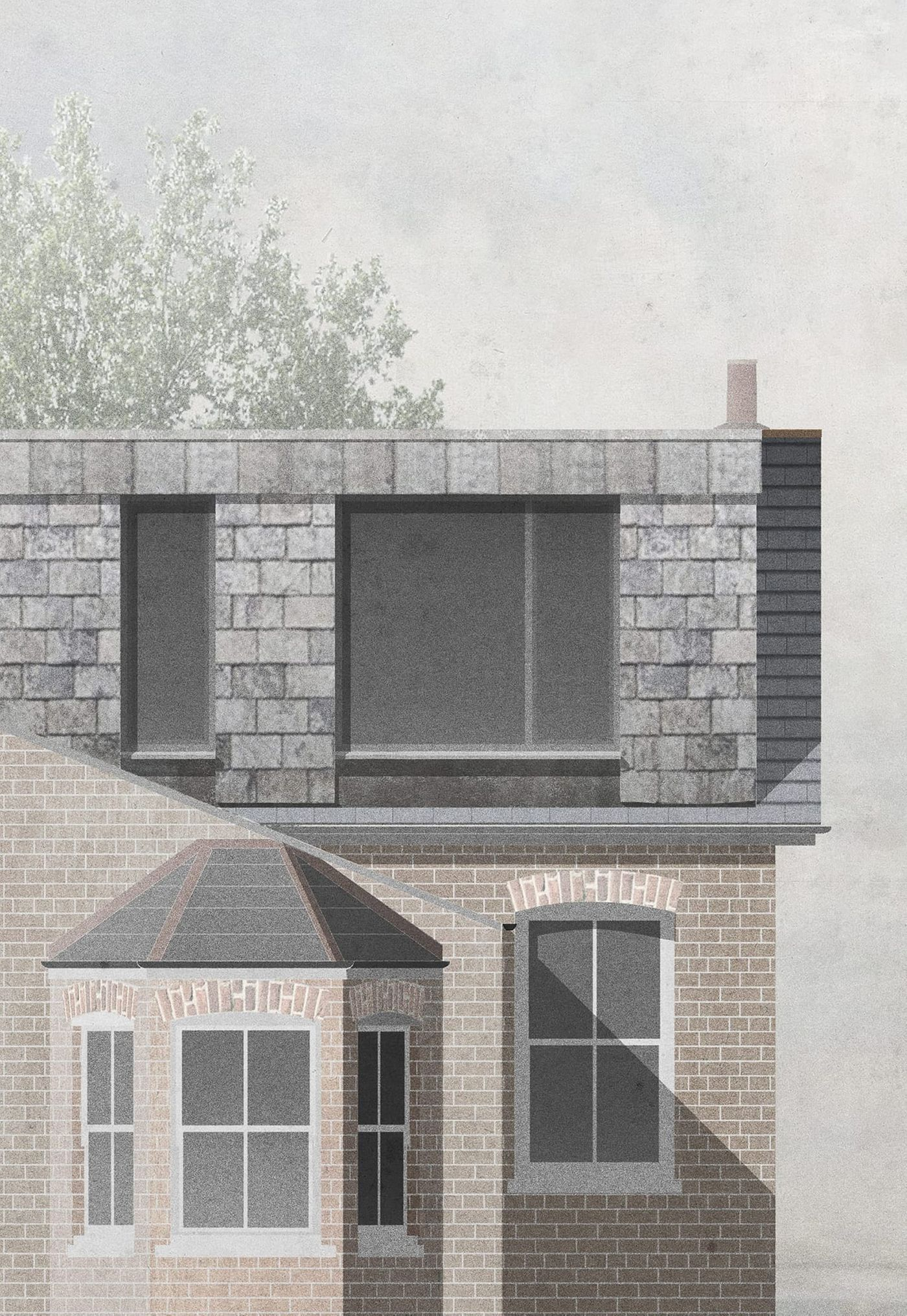 Slate and lead clad rear dormer extension and loft conversion at Northbrook Road, London designed by From Works.