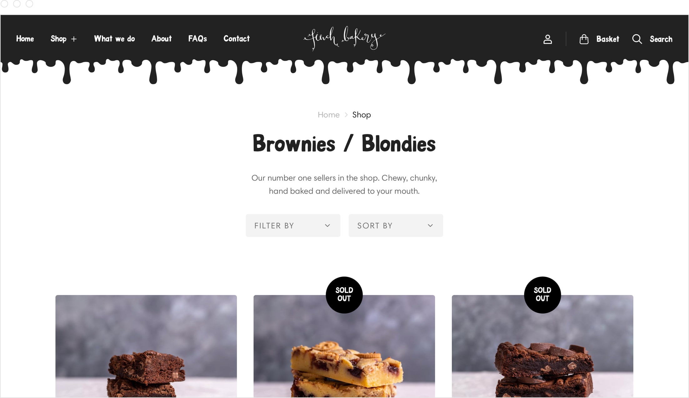 Product collection, website and online store design for award winning Lancashire bakery, Finch Bakery