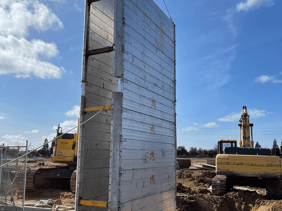 Build-a-box on way to trench