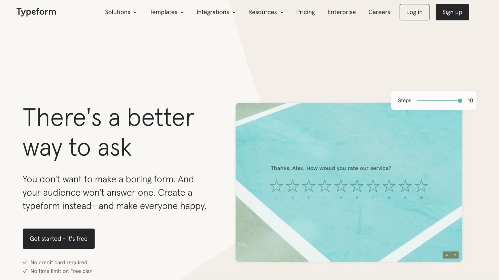 SaaS Marketing Automation Tools: Typeform Screenshot