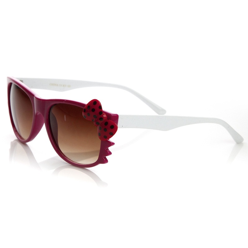Hello Kitty Pink White Red Dot Bow Sunglasses Right Side
