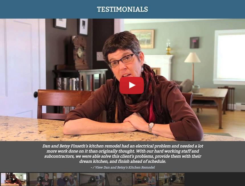 Screenshot from Venture Builders testimonials page