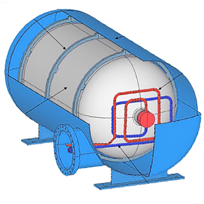 Technical diagram of the Savion fuel tank