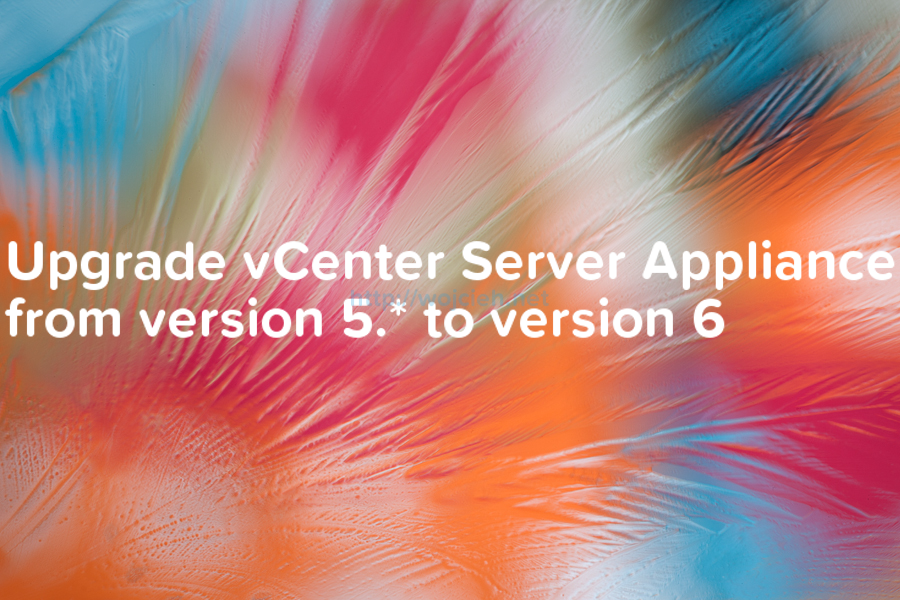 Upgrade vCenter Server Appliance from version 5 to version 6 -  logo