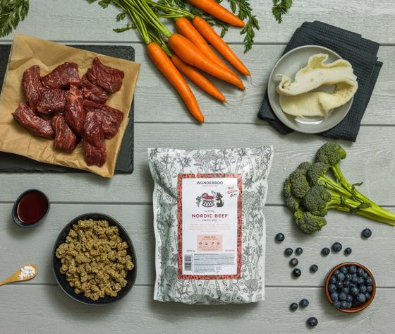 WONDERBOO superfood for dogs nordic beef ingredients