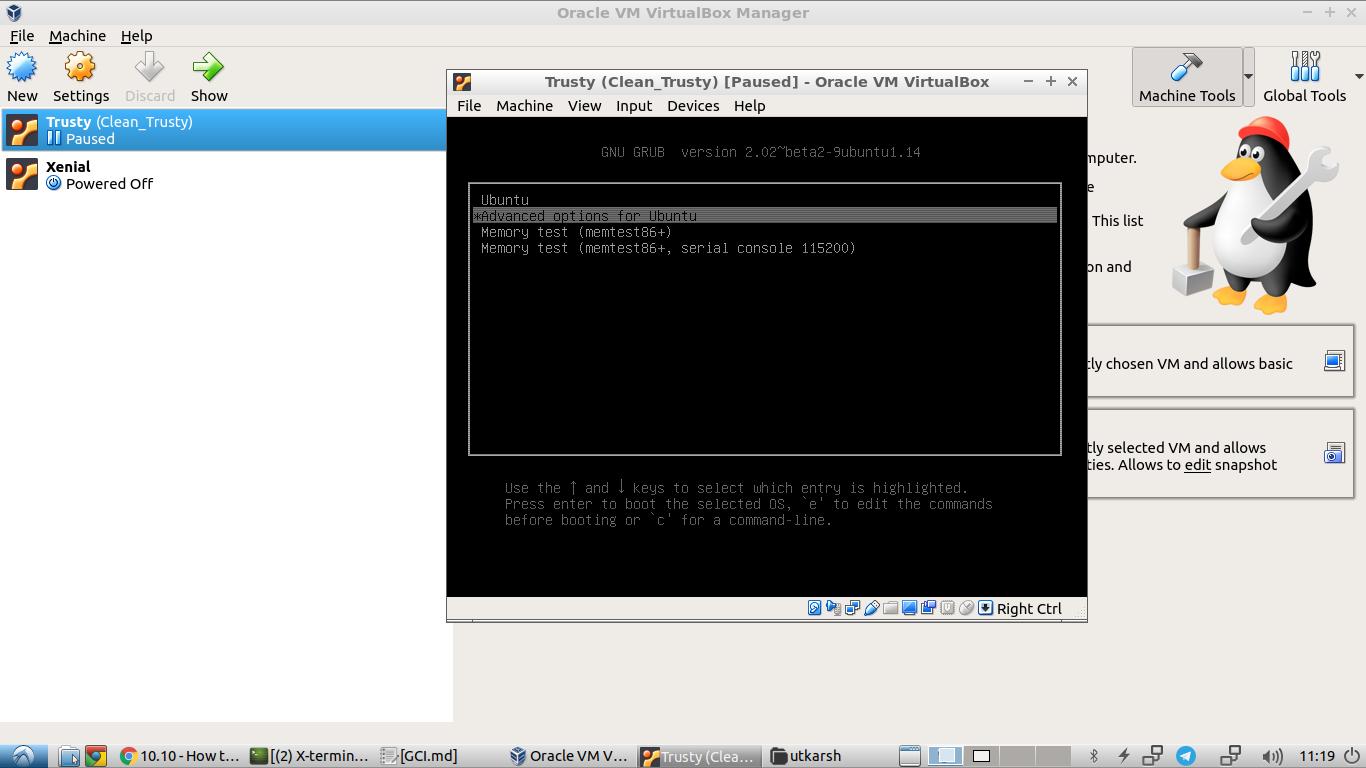 VirtualBox running Ubuntu Server 14.04