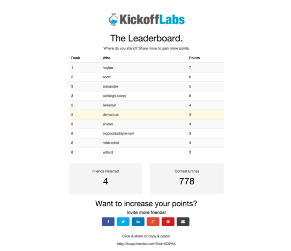 Simple Leaderboard