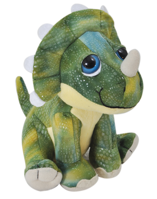 """The Petting Zoo: 8"""" Bright Eye Triceratops"""