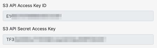 Filebase bucket credentials