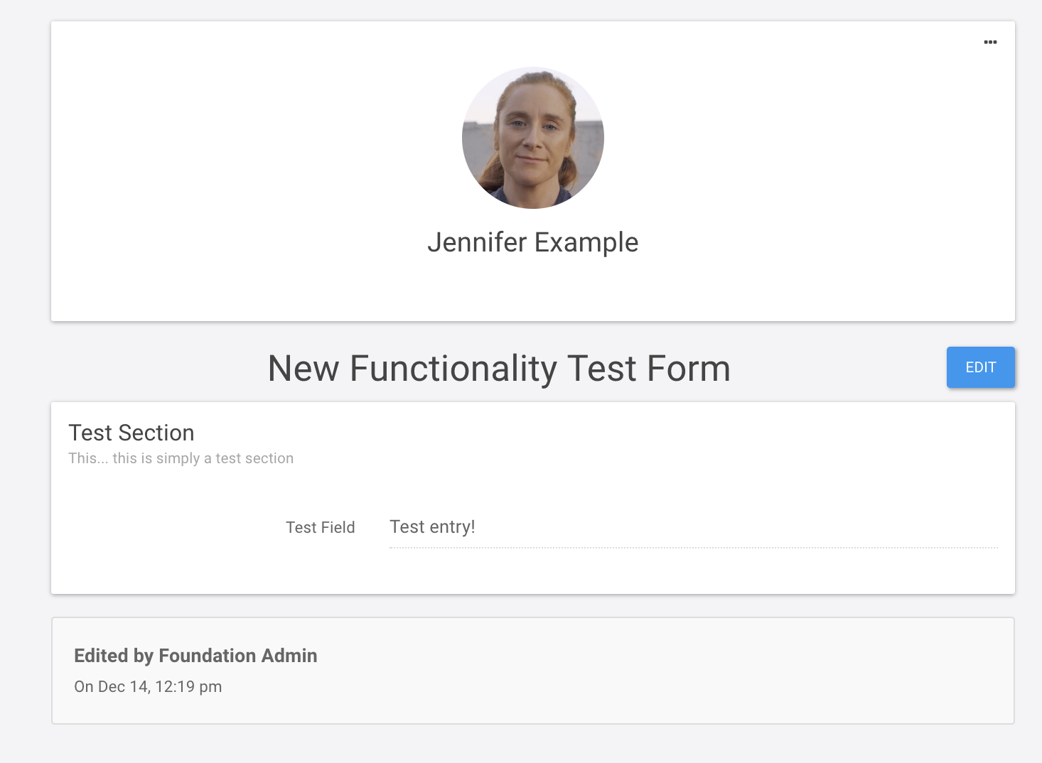 Jennifer completed form