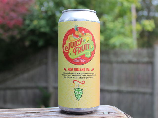 Juicy Fruit, an IPA brewed by Hopsters Brewing Company