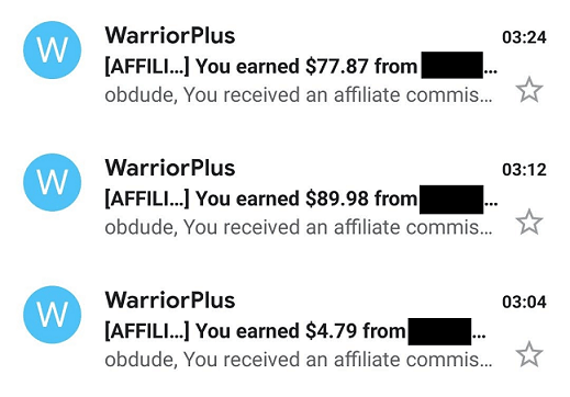 WarriorPlus Sales Proof - Passive Income At Night