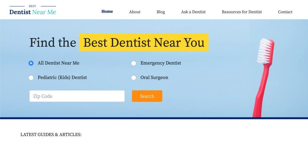 Best Dentist Near Me Screenshot Home