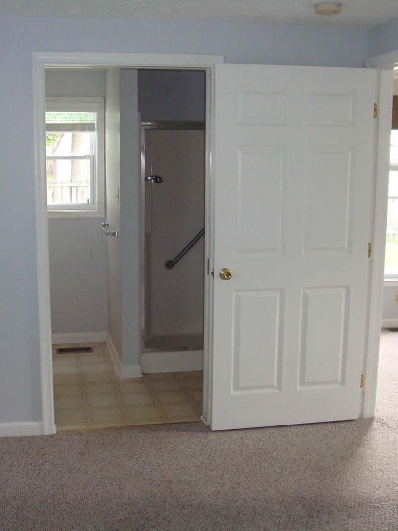 doorway to a bathroom