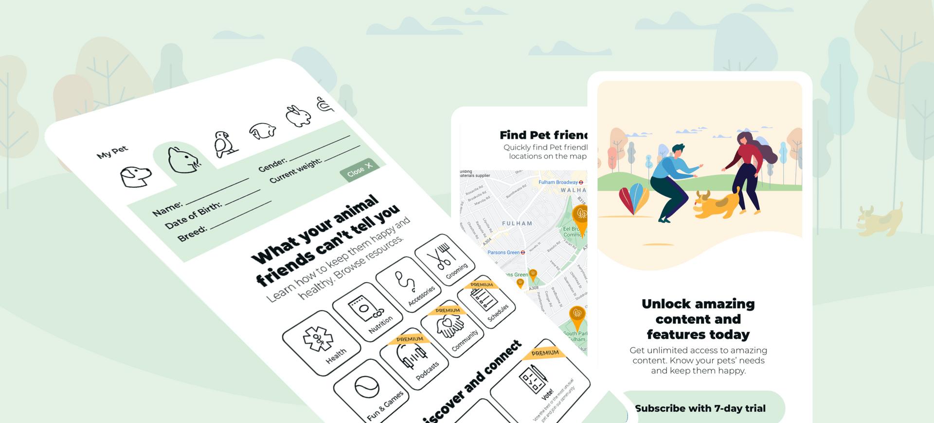 Pet Time app ui design