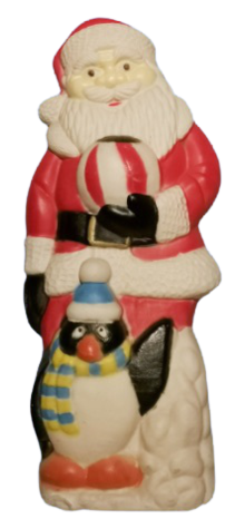 Santa with Penguin photo