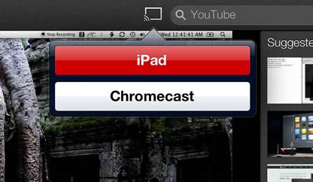 Chromcast icon on YouTube