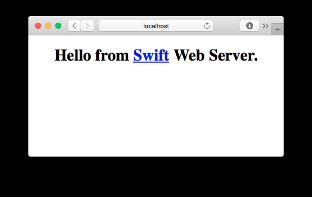 Swift Server serving static HTML