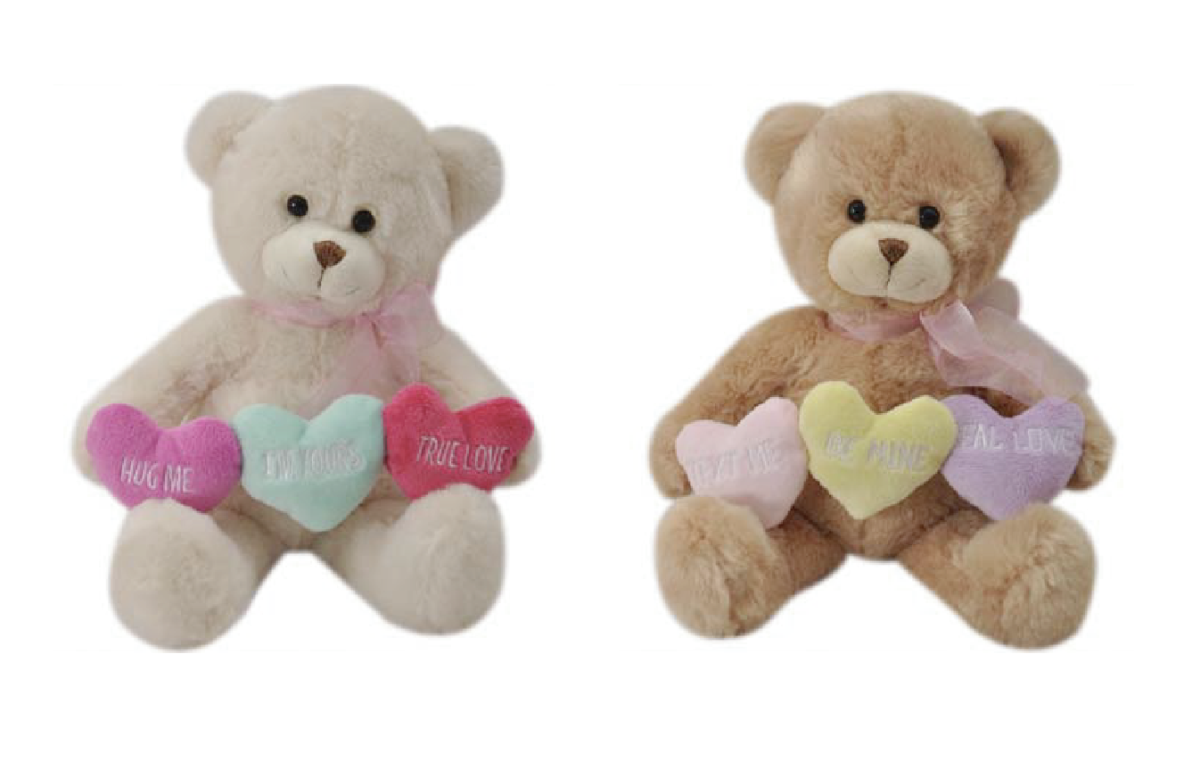 "The Petting Zoo: 12"" Triple Heart Bear Assortment"