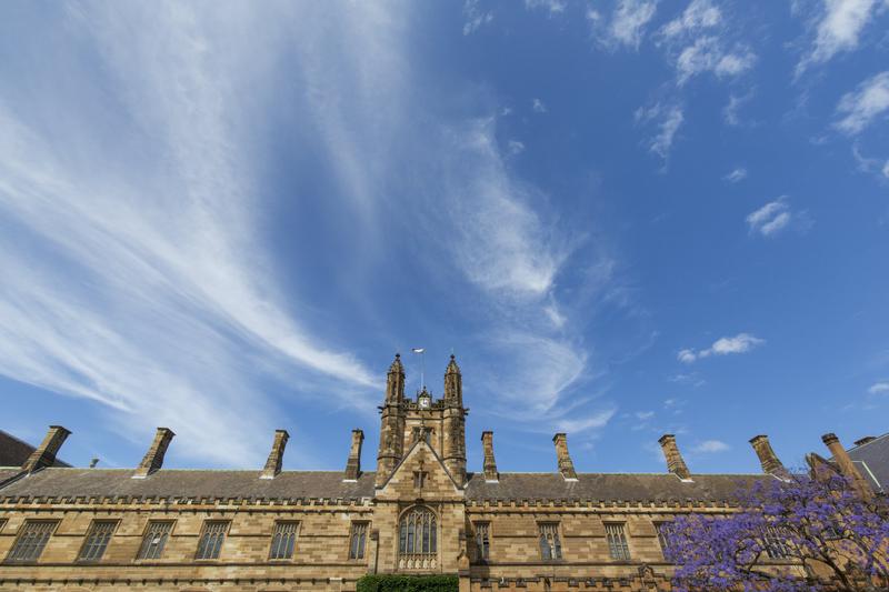 University of Sydney building on a sunny blue sky day