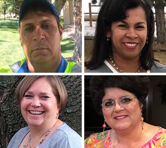 Photographs of Adrian, Carly, Maritza, and Pam, who have factor X deficiency or have children with factor X deficiency