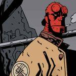 Hellboy em arte de Mike Mignola