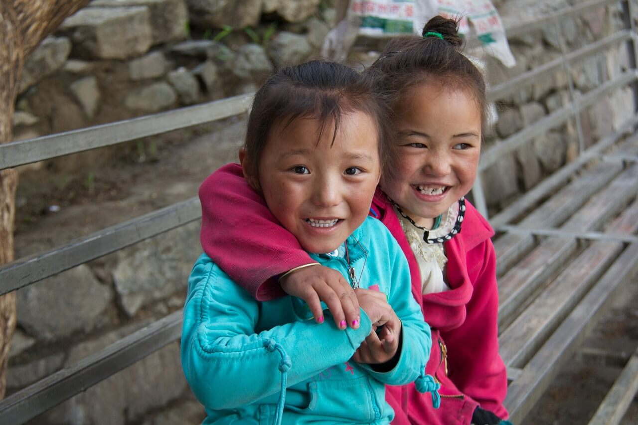 Two Happy Nepalese Kids