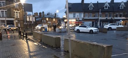 London Supermarket Refurb – 3m Concrete Barriers – London Supermarket Refurb